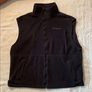 Men's Columbia fleece vest size XL
